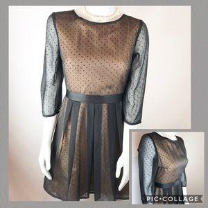 H&M Sheer Black Polka Dot Dress